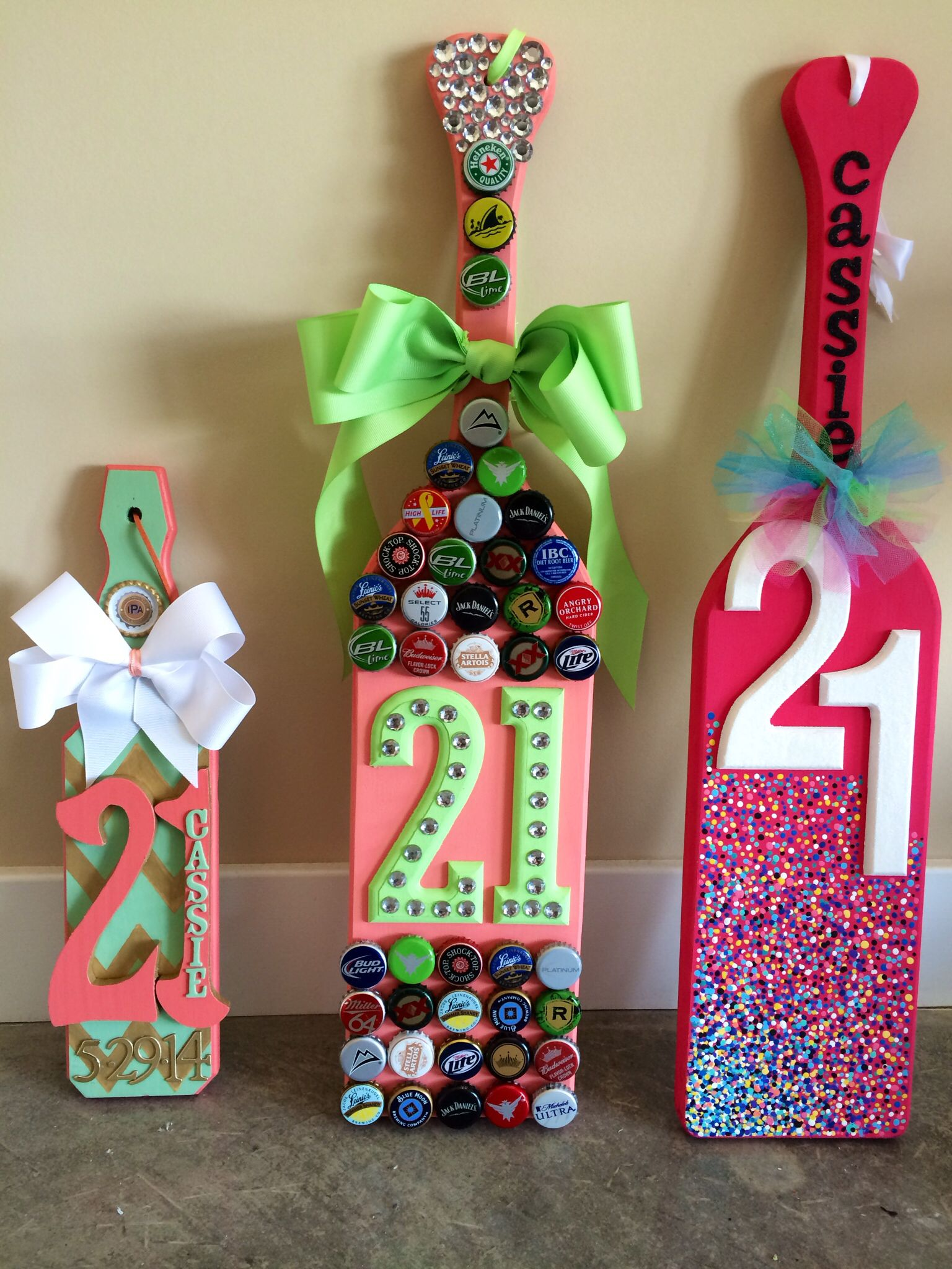 21st Birthday Paddles from my Roomie sorority sister best friend