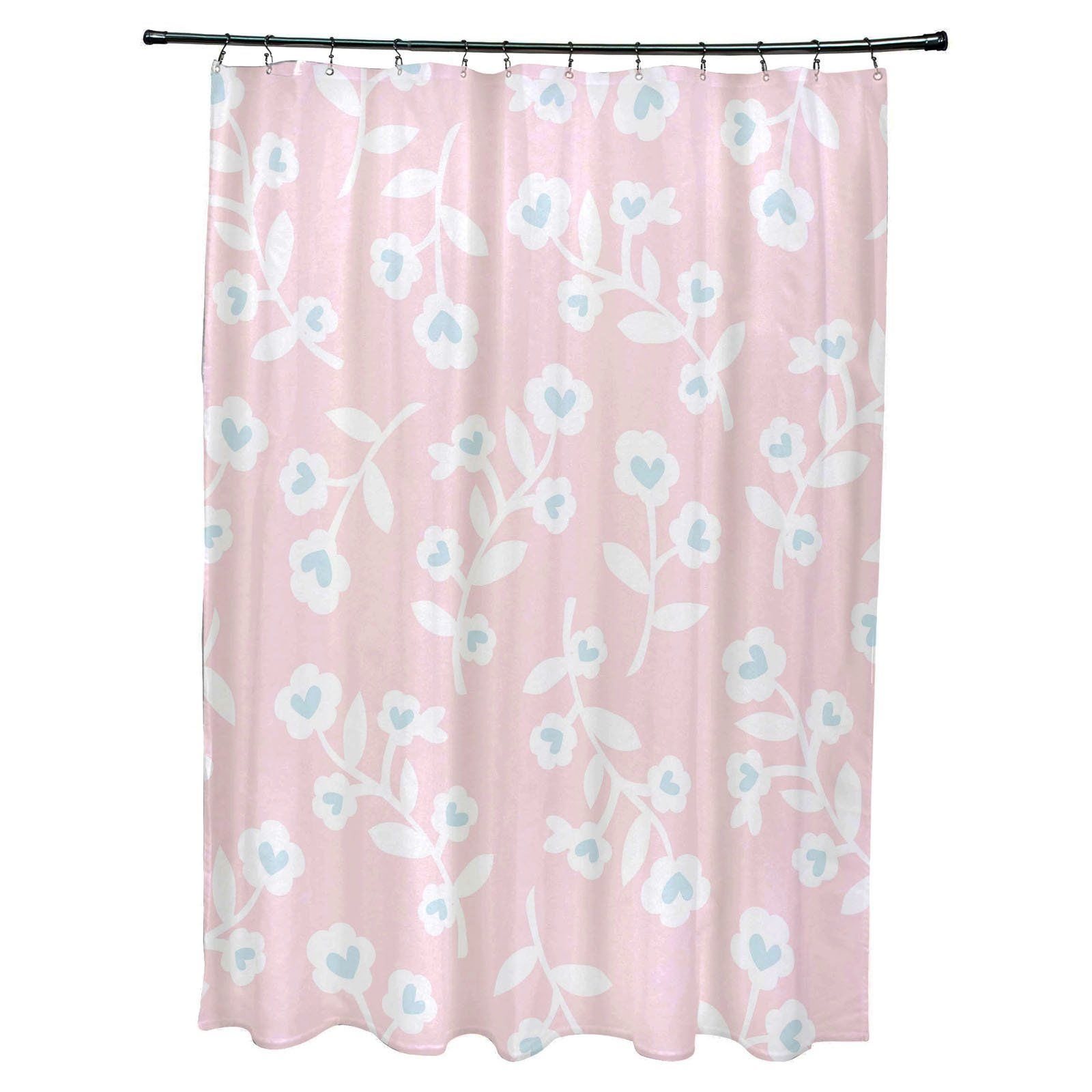 E By Design Valentines Polyester Shower Curtain Funky Shower