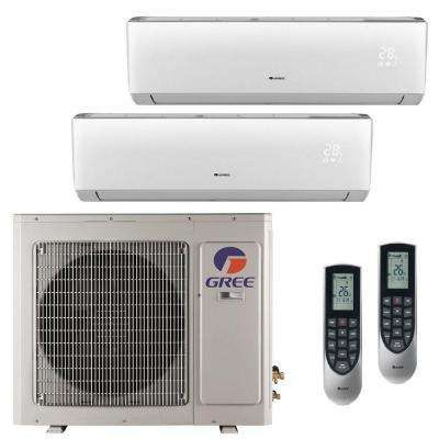 Multi 21 Zone 24 000 Btu 2 Ton Ductless Mini Split Air Conditioner With Heat Inverter Remote Ductless Mini Split Wall Air Conditioner Small Air Conditioning
