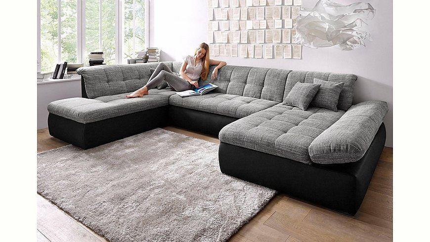 domo collection wohnlandschaft xxl wahlweise mit bettfunktion und armlehnenverstellung. Black Bedroom Furniture Sets. Home Design Ideas