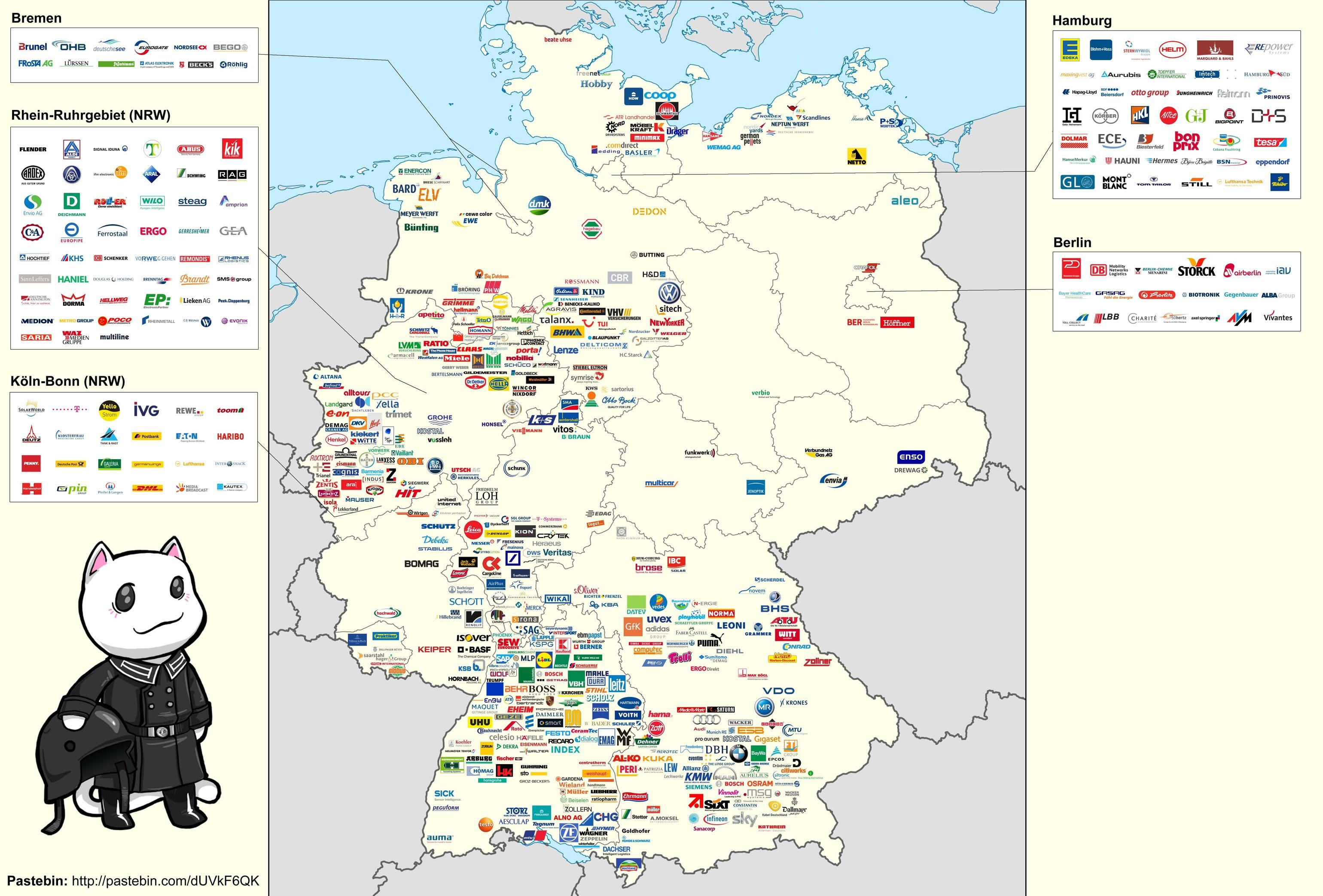German Corporate Map Infoviz Pinterest - Germany map natural resources