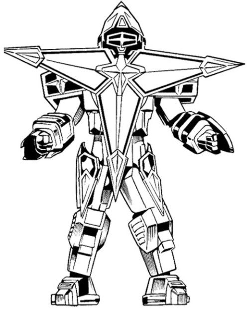 power ranger robot coloring pages - photo#23