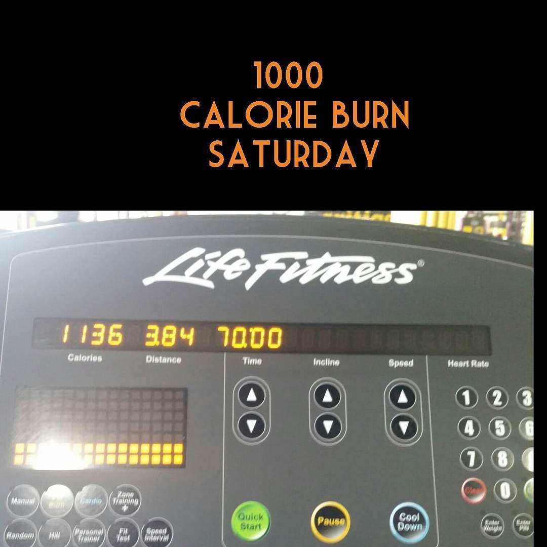 Thousand calorie burn Saturday. Treadmill walk incline at ...