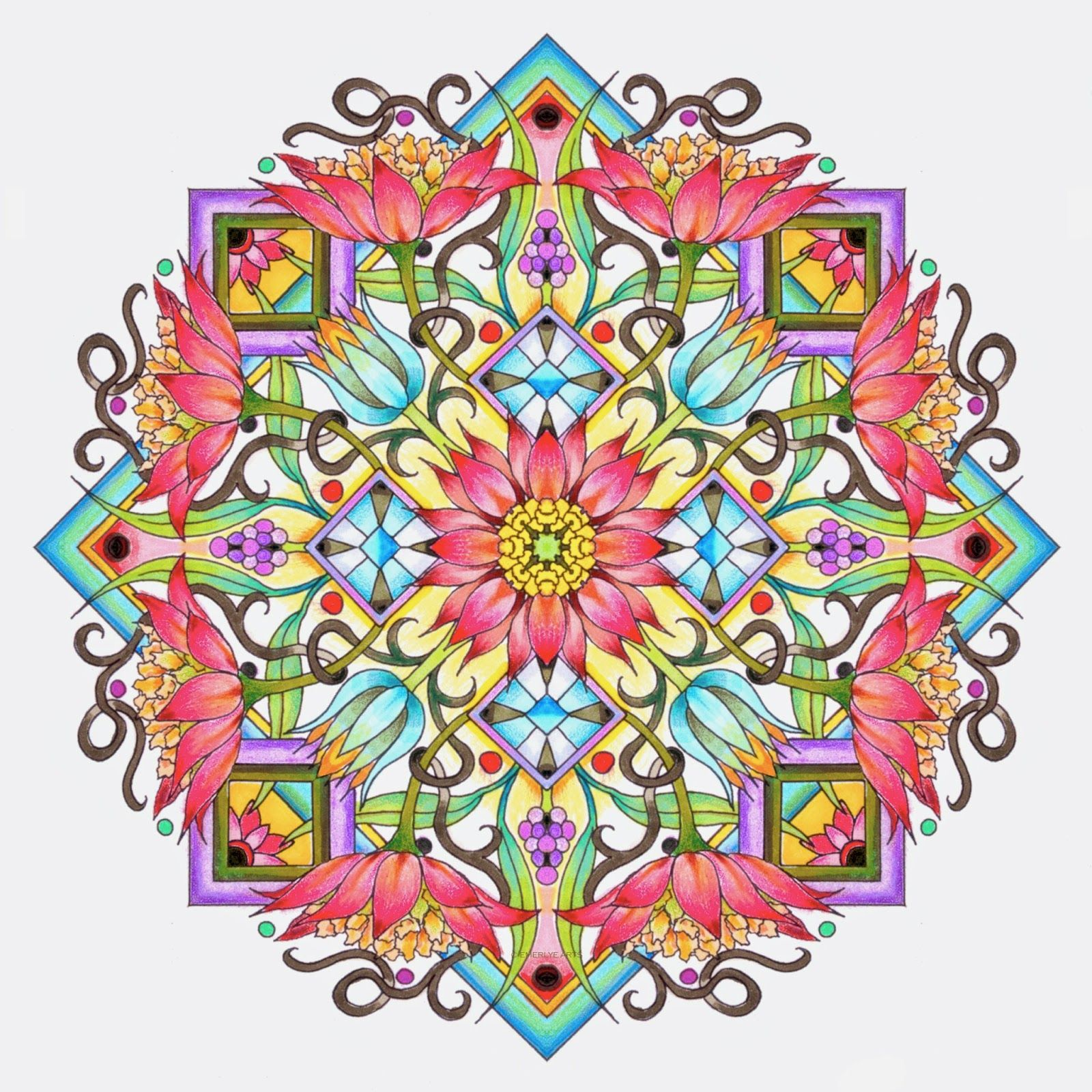 Lotus designs coloring book - Cynthia Emerlye Vermont Artist And Kirigami Papercutter Cover Design For An Upcoming Mandala Book