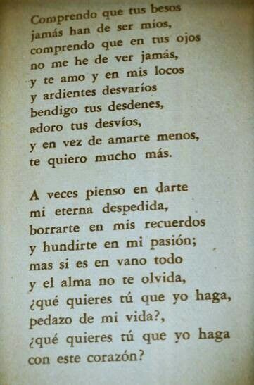 A Veces Pienso Love Quotes Love Rules Kinds Of Poetry