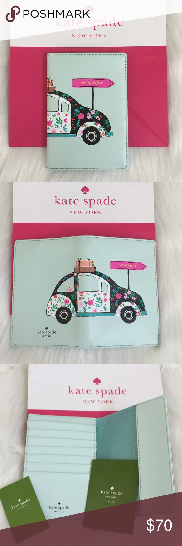 "️Kate Spade NY ""out of office""Passport Holder ♠️Kate Spade"