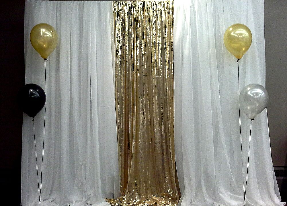 White And Gold Backdrop Decor By Davis Floral Creations Gold