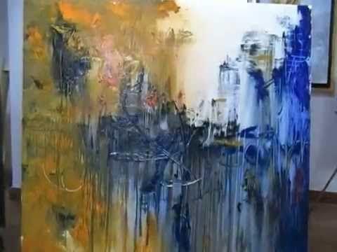 Como pintar un cuadro abstracto gabriela mensaque - Pintar un cuadro moderno ...