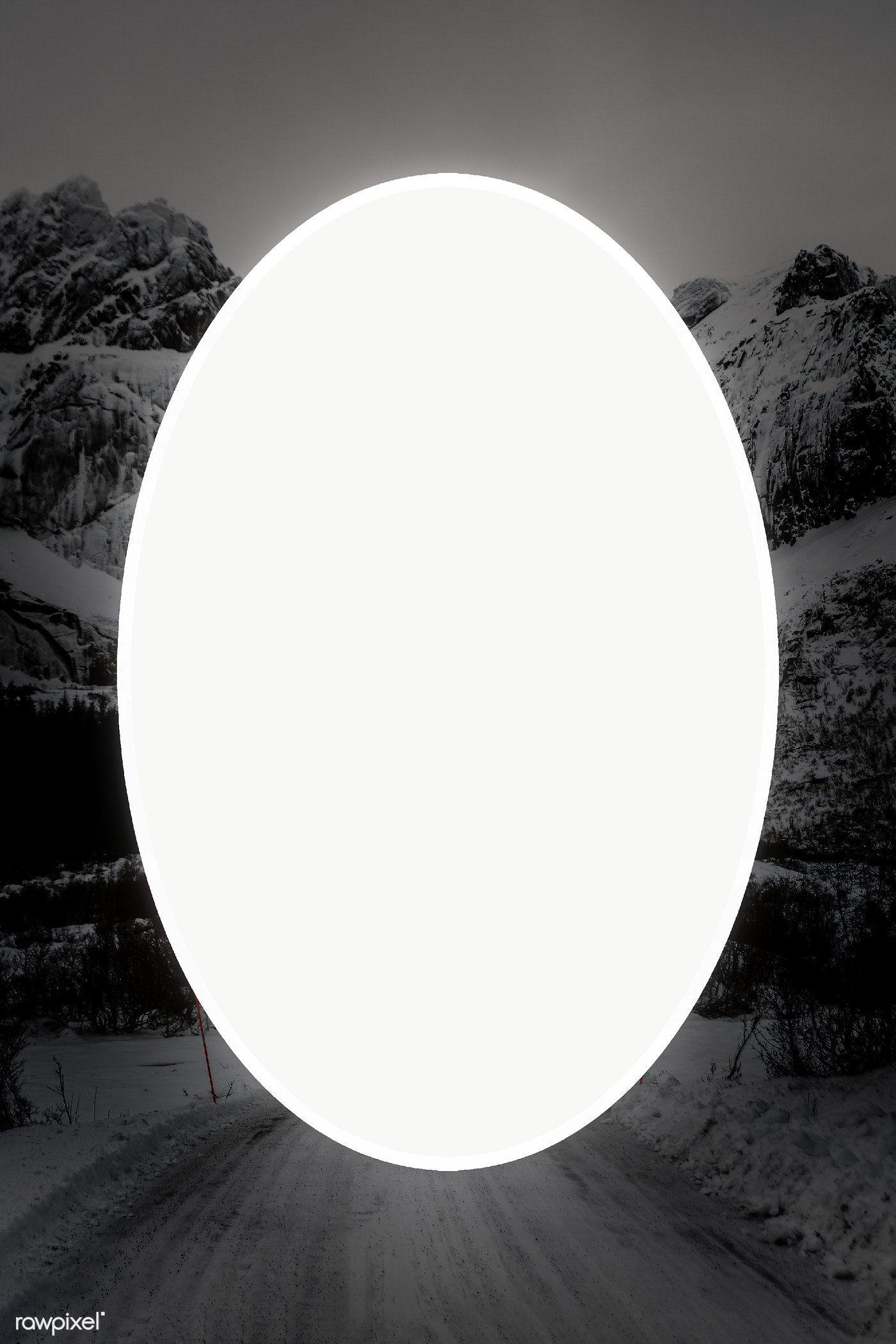 Download Premium Png Of Oval Frame Over Winter Landscape Transparent Png Winter Landscape Oval Frame Landscape