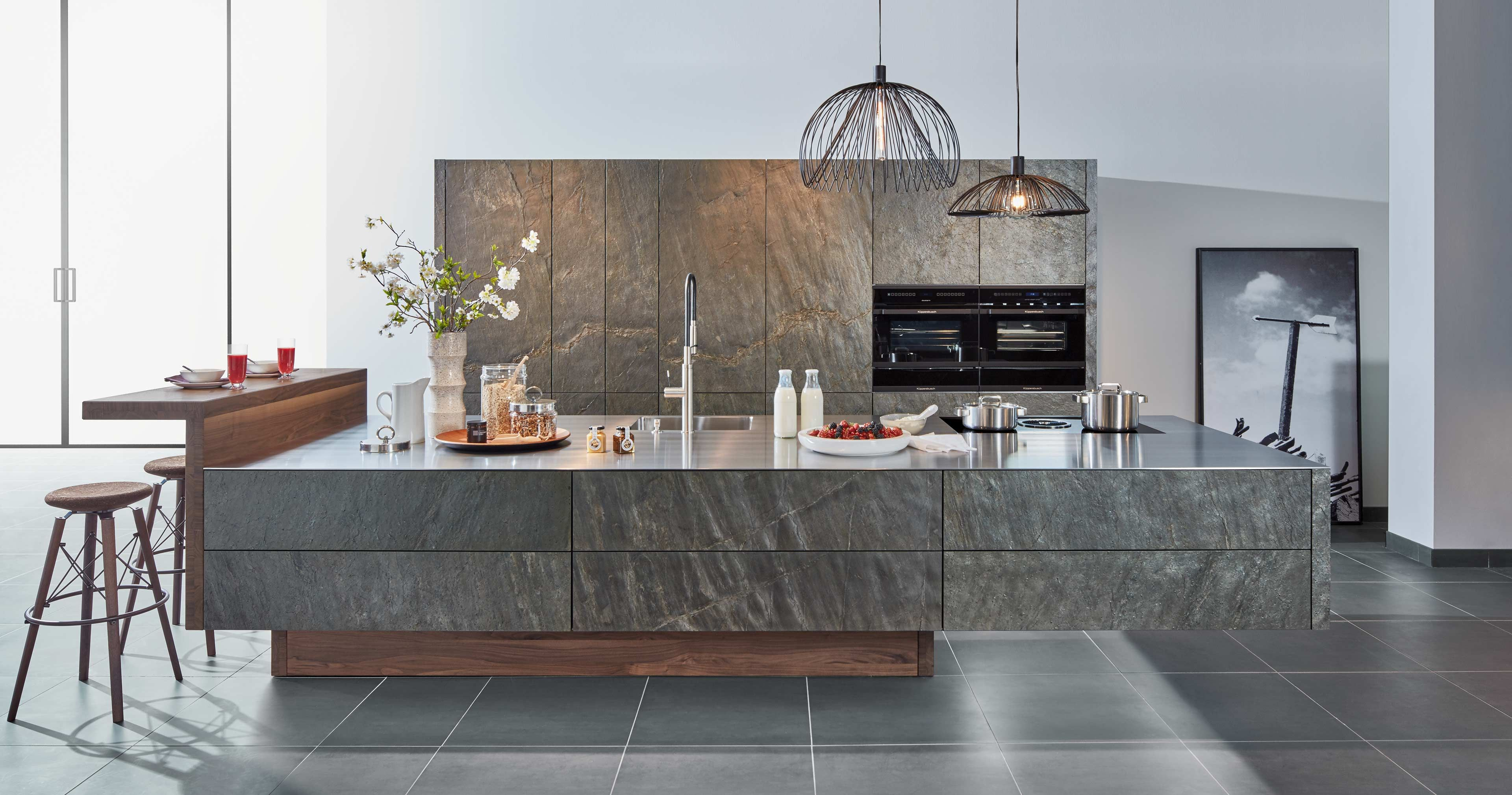 Schon A Real Stone Kitchen With Zeyko Flybridge Appears To Be Design Outweighing  Physics. The Weight Of The Suspended Kitchen Block In Real Ocean Green  Stone ...