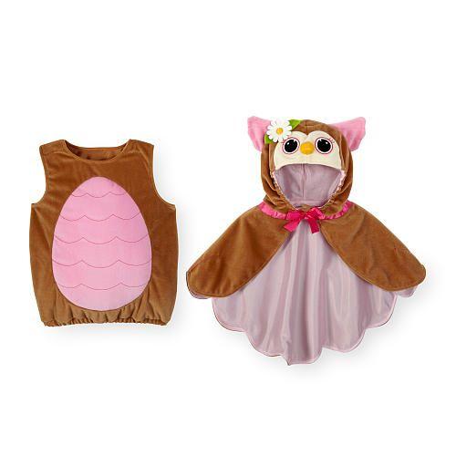 koala kids girls 2 piece pinkbrown owl halloween costume with hooded cape babies - Baby Owl Halloween Costumes