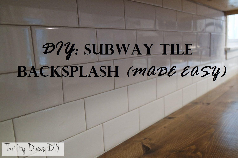 Diy Subway Tile Backsplash Made Easy 1 Day 150 Subway Tile Backsp