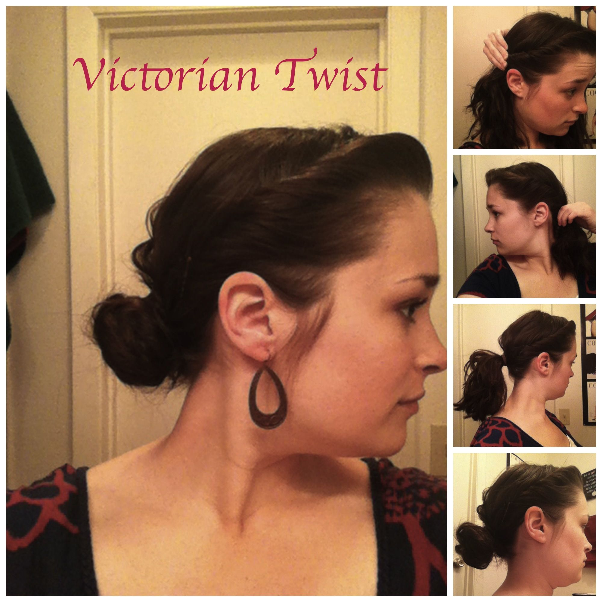 Easy hair-do: Victorian Twist | Victorian hairstyles, Hair styles, Hair tutorial