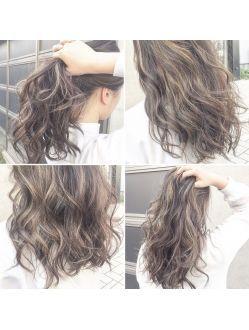 お客様の髪色紹介 夏にぴったり透明感 外国人風3dハイライト 髪 色