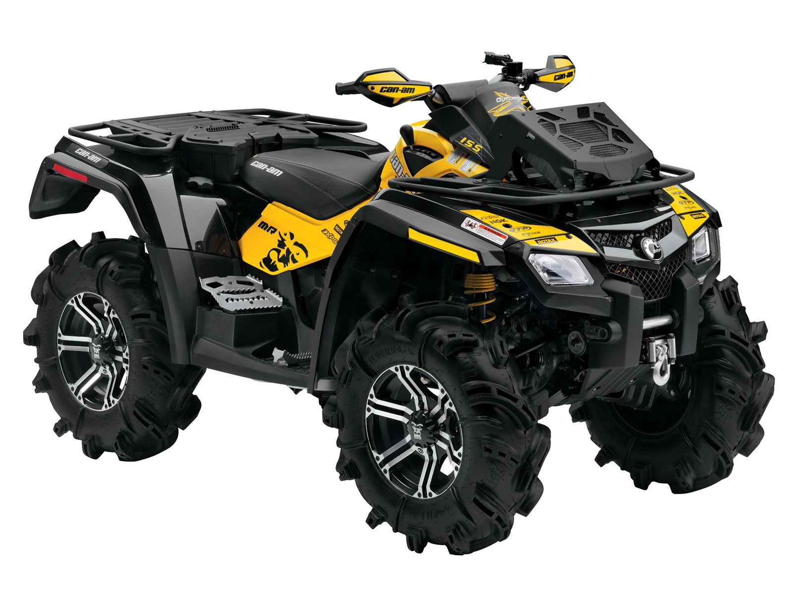 Can am outlander x mr the wheels pulled me in but it looks like the right atv to attach the snow plow to