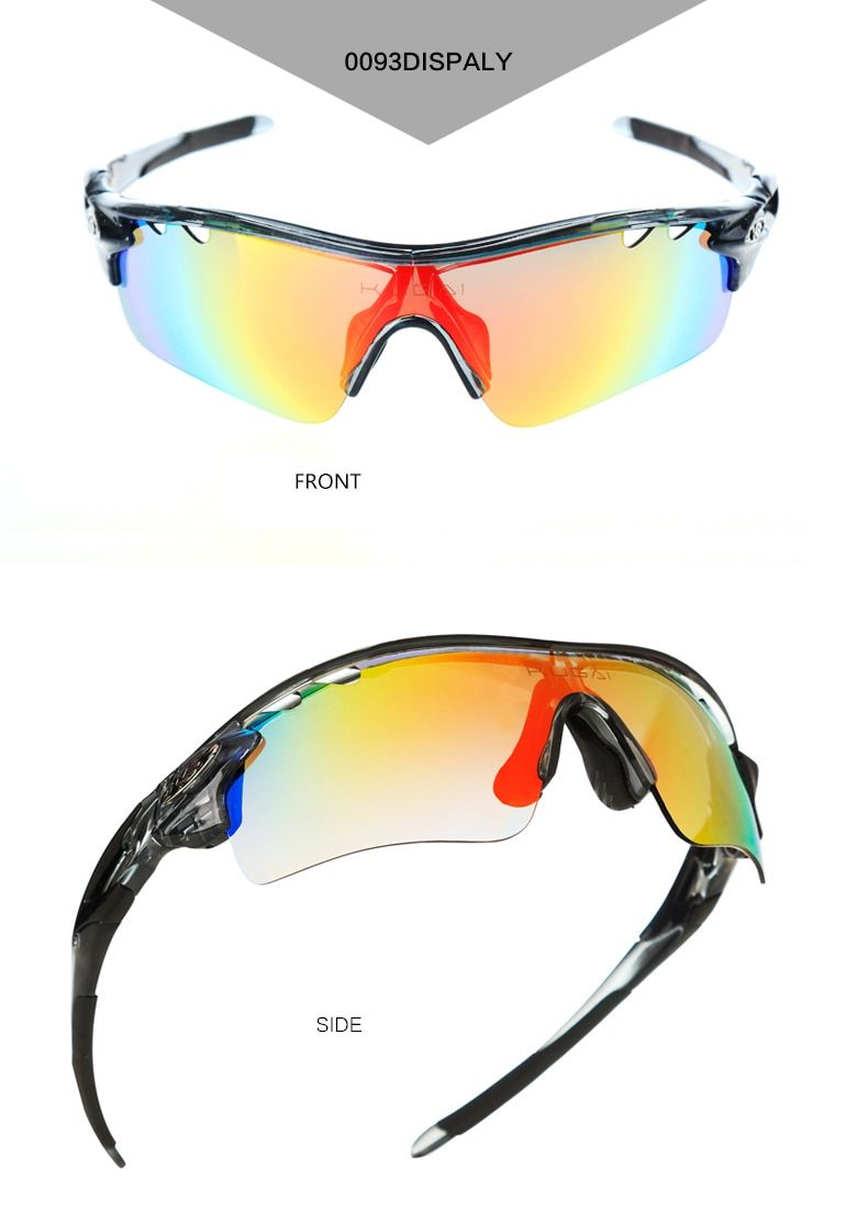 ab9face2483 CoolChange Polarized Cycling Glasses Bike Outdoor Sports Bicycle Sunglasses  For Men Women Goggles Eyewear 5 Lens Myopia Frame  bici  bicycle  bicicleta  ...