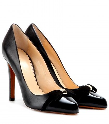 Mulberry - Bow leather and patent-leather pumps - mytheresa.com GmbH