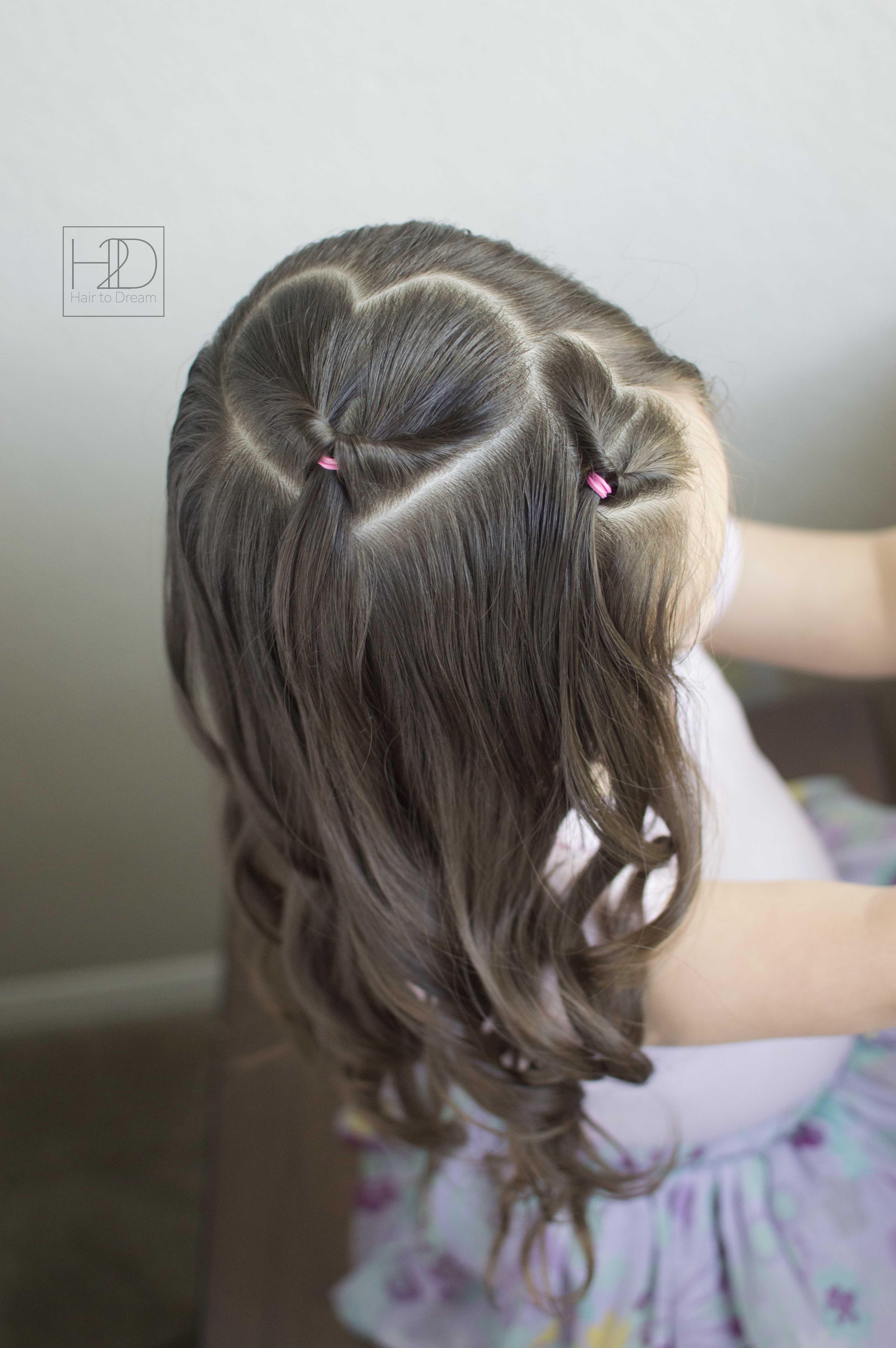 Simple Heart Hairstyle Very Easy Diy Hearthair Valentinesdayhairstyle Hearthairstyle Hairstylesforki Girls Hairstyles Easy Baby Hairstyles Girl Hairstyles