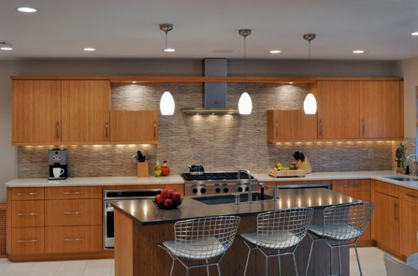 Elegant modern kitchen with lovely pendant lighting and an oriental elegant modern kitchen with lovely pendant lighting and an oriental touch mozeypictures Image collections