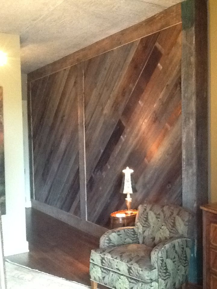 Antique reclaimed wall cover barn style interior doors