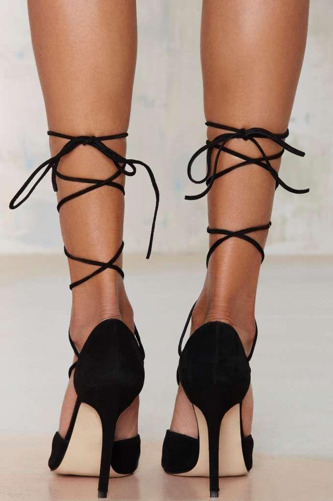 The Mode Collective Olivia Lace-Up Suede Pump - Shoes | Dark Romance | Dark Romance | Pumps