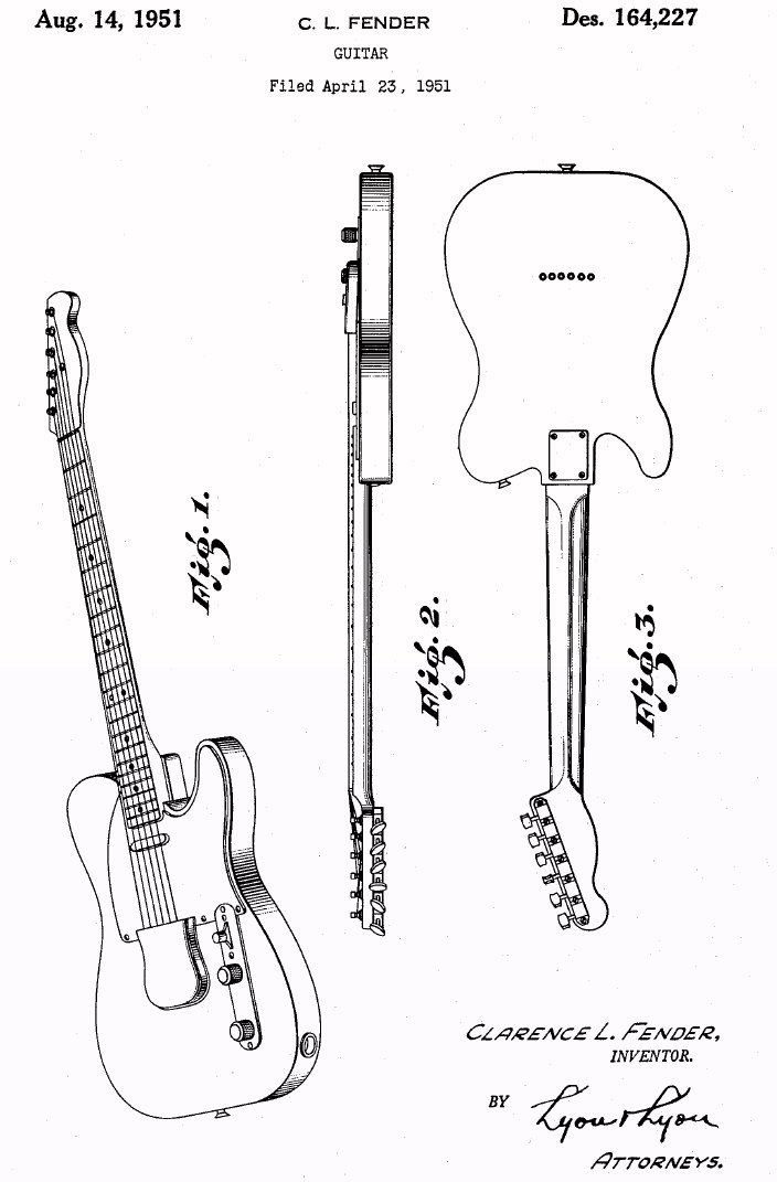 On April 23 1951 Clarence Leonidas Fender Applied For A Us