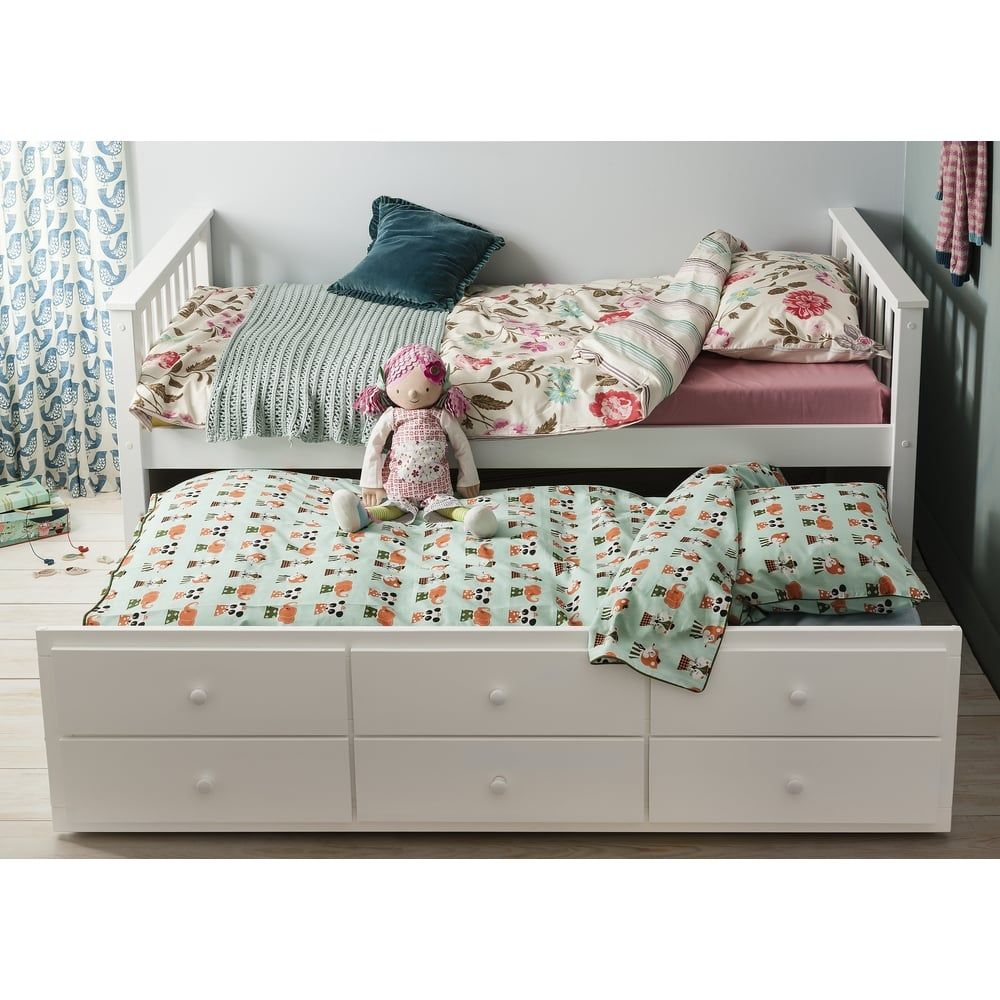 Day Bed Loki Single Bed with Pullout Drawers and Trundle