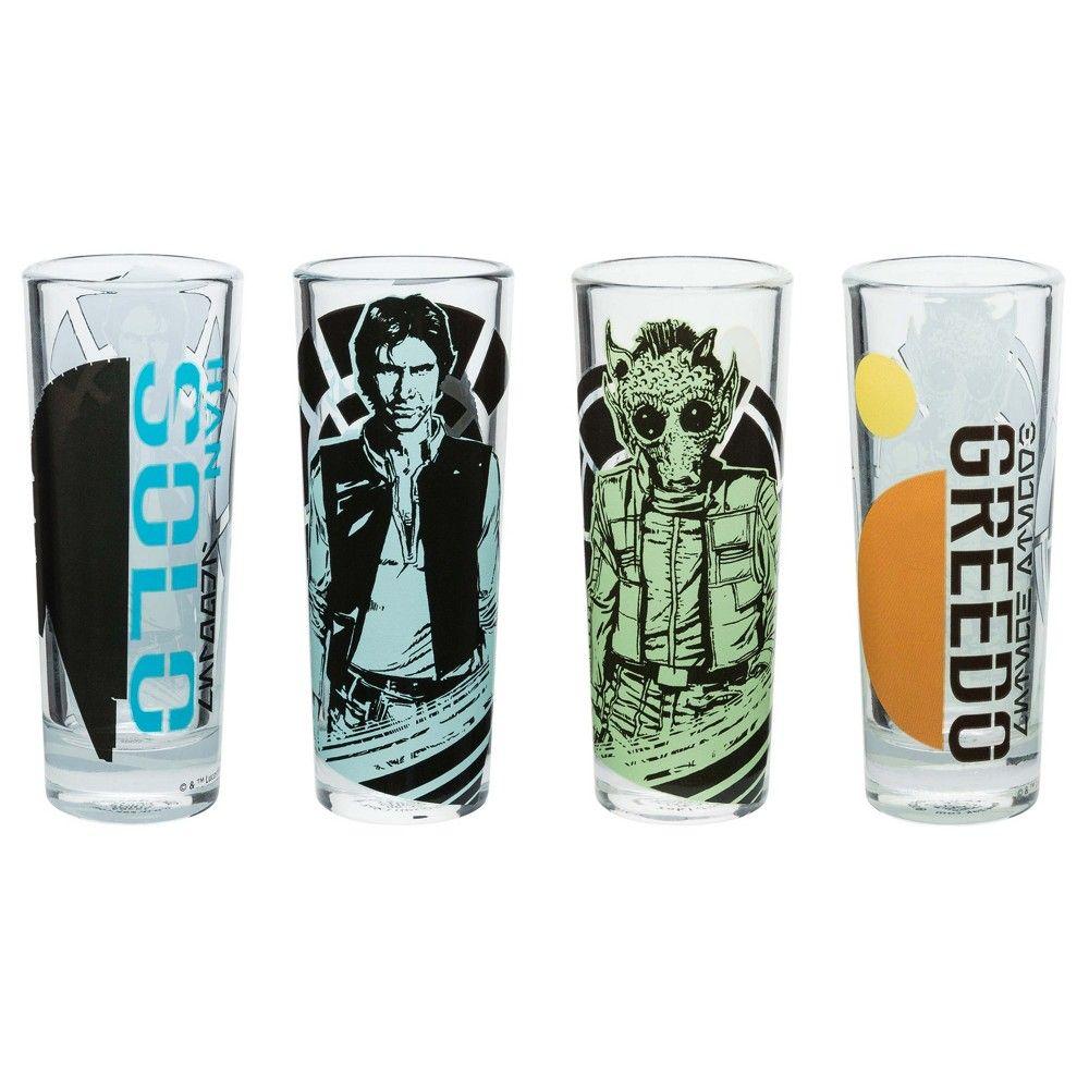 Zak Designs Star Wars Han Solo And Greedo 2oz Shot Glasses Set