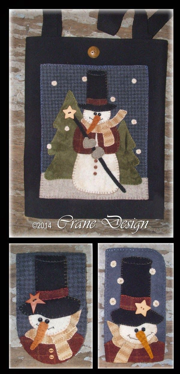 Design By: Wool Applique Patterns By Crane Designs On Pinterest