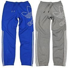 6eca3feeb28ede ADIDAS ORIGINALS BIG TREFOIL HERREN FLEECE JOGGINGHOSE TRAININGSHOSE HOSE  XS-XL