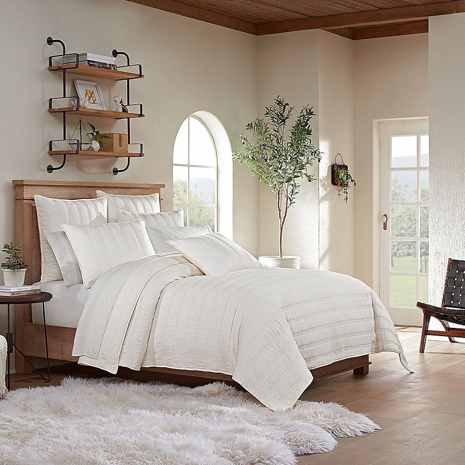 Ugg Surfwashed Quilt Bed Bath Beyond In 2021 Apartment Decorating On A Budget Bed Bath And Beyond Johanna Gaines Bedroom Ideas
