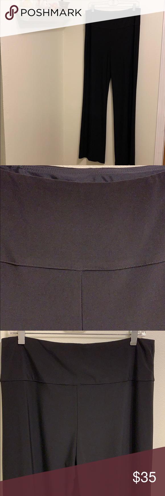 Frank Lyman black banded waist career trousers 12 in 2020