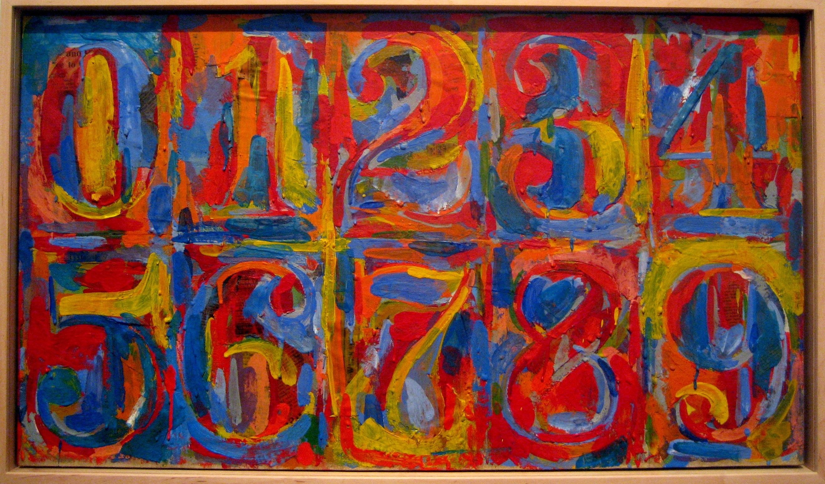 Jasper Johns Like The Use Of Symbolism And Colour Again Has A Very