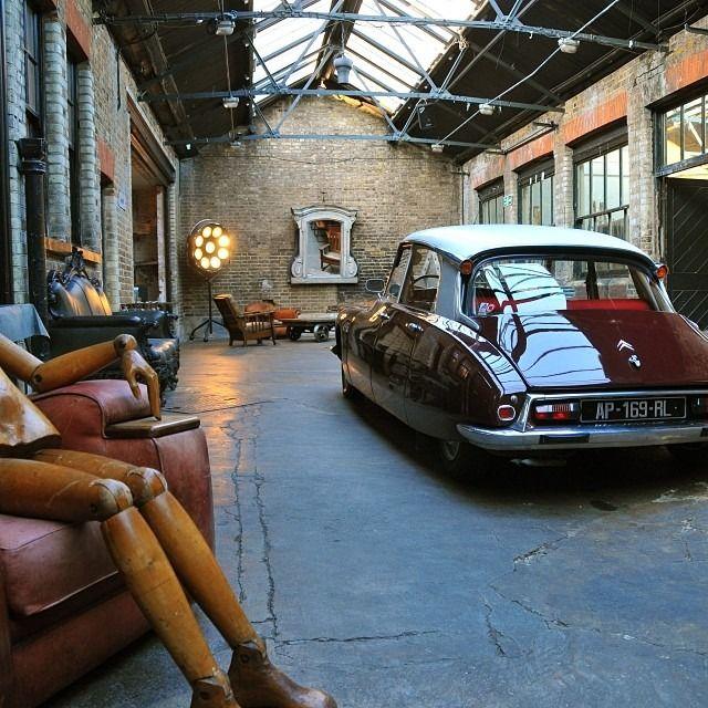 Car Garage Loft Retro Style