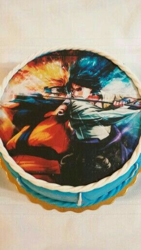 Naruto Sasuke Battle Cake Anime Food Anime Food