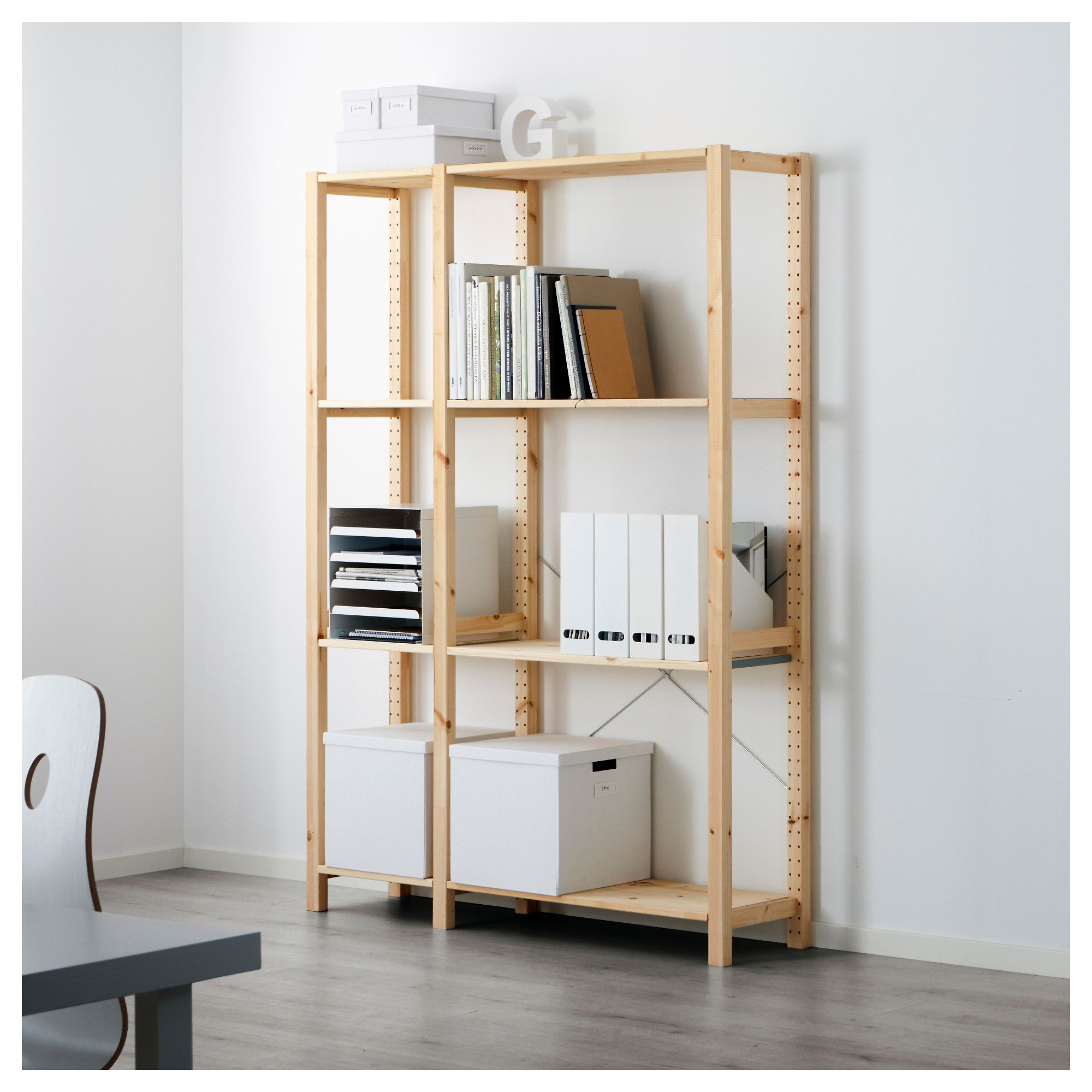 new product ef82f 489c6 IKEA - IVAR 2 section shelving unit pine | Home Office ...