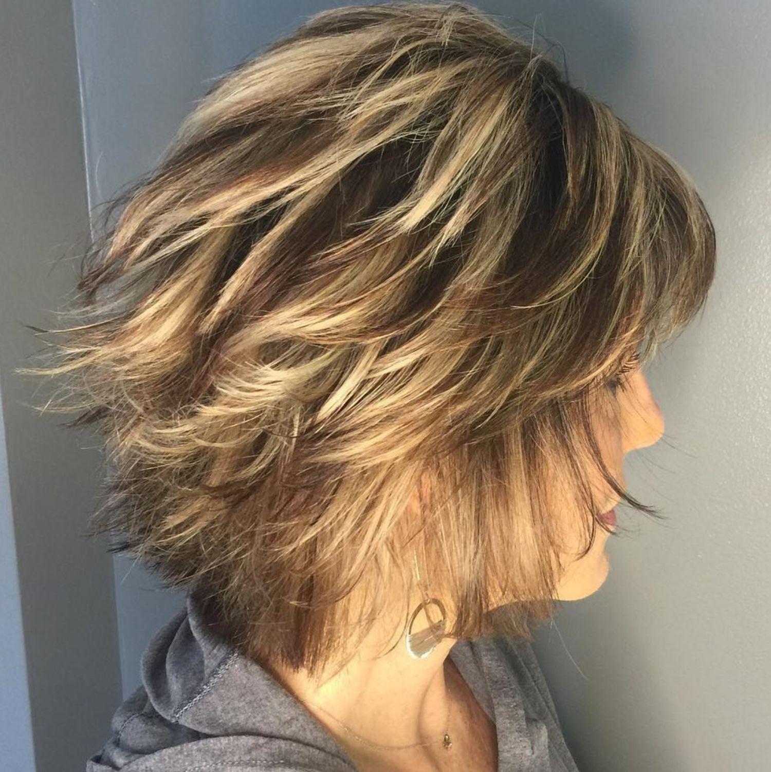 Neck Length Hairstyle With Razored Layers Modern Hairstyles Neck Length Hair Thick Hair Styles