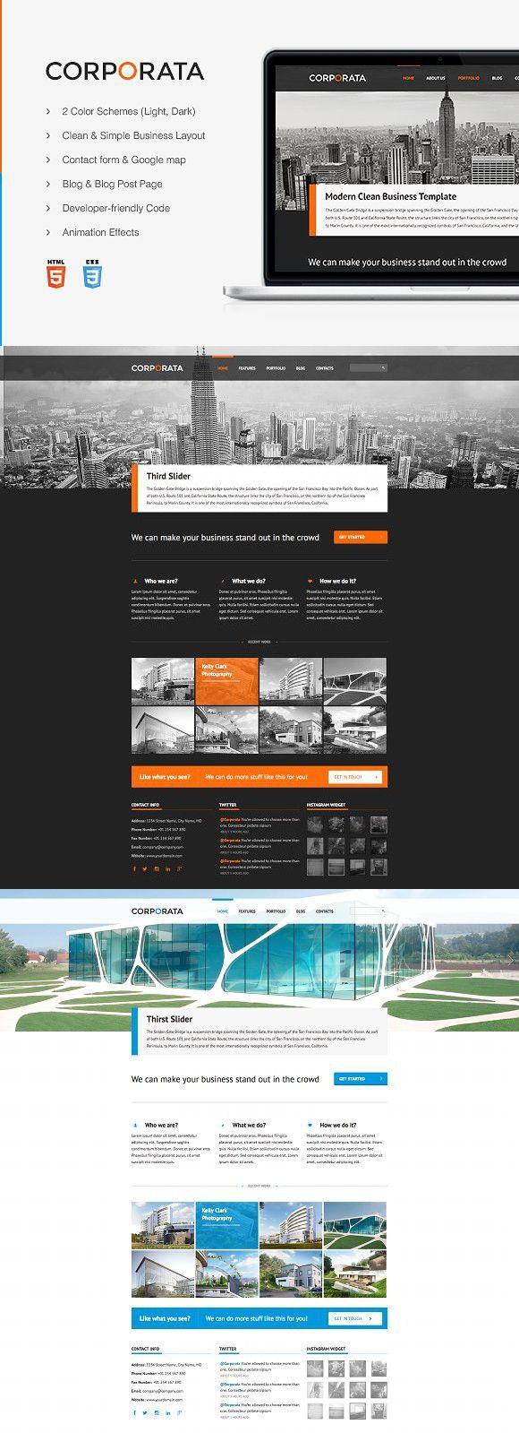 Corporata Responsive Template Custom website design
