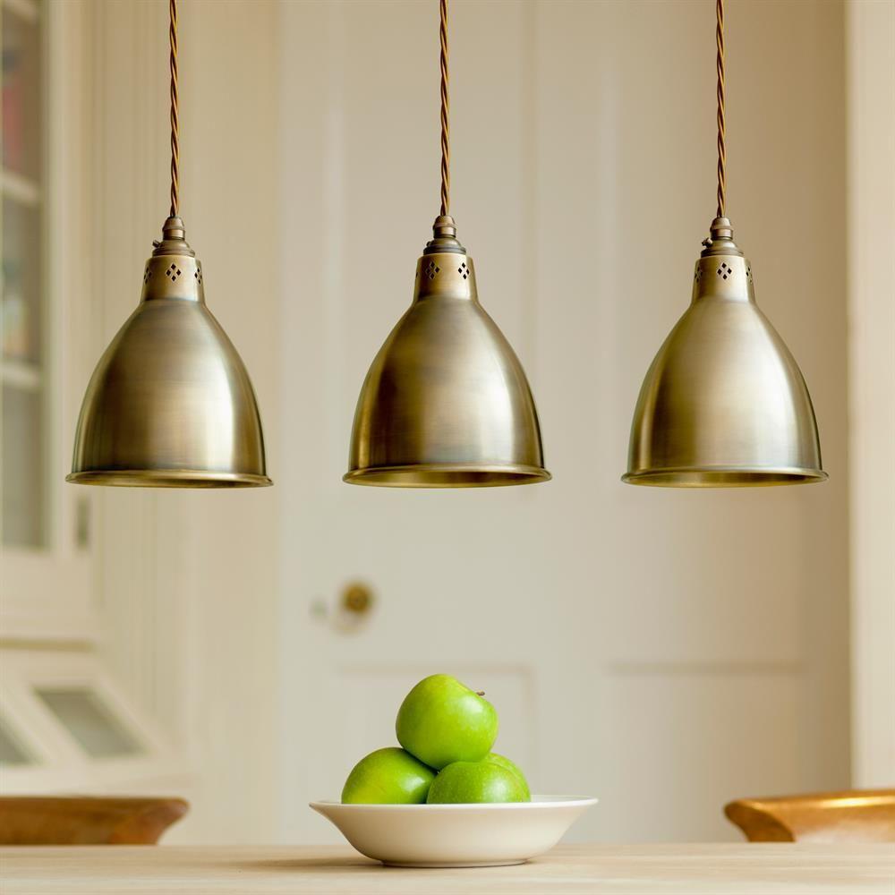 Barbican Pendant Light In Antiqued Brass