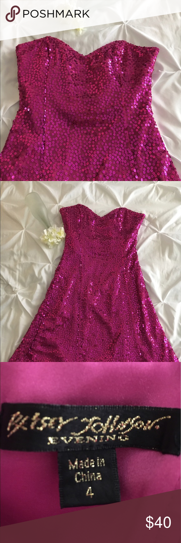 Betsey johnson evening dress size betsey johnson sequins and