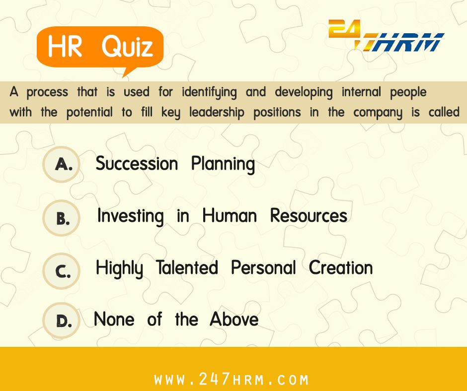 Pin by 247HRM on HR Quiz Succession planning