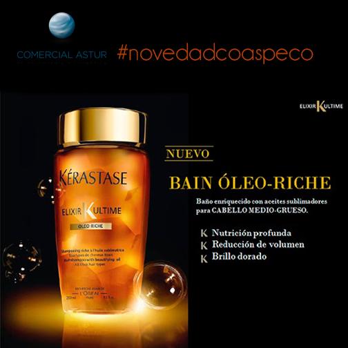 Bain Oleo Riché Elixir Ultime, un champú enriquecido con aceites sublimadores para cabellos medios y gruesos. DISFRUTA DEL PLACER EN TU CABELLO...ya disponible en nuestra web. http://bit.ly/1qXRy2X