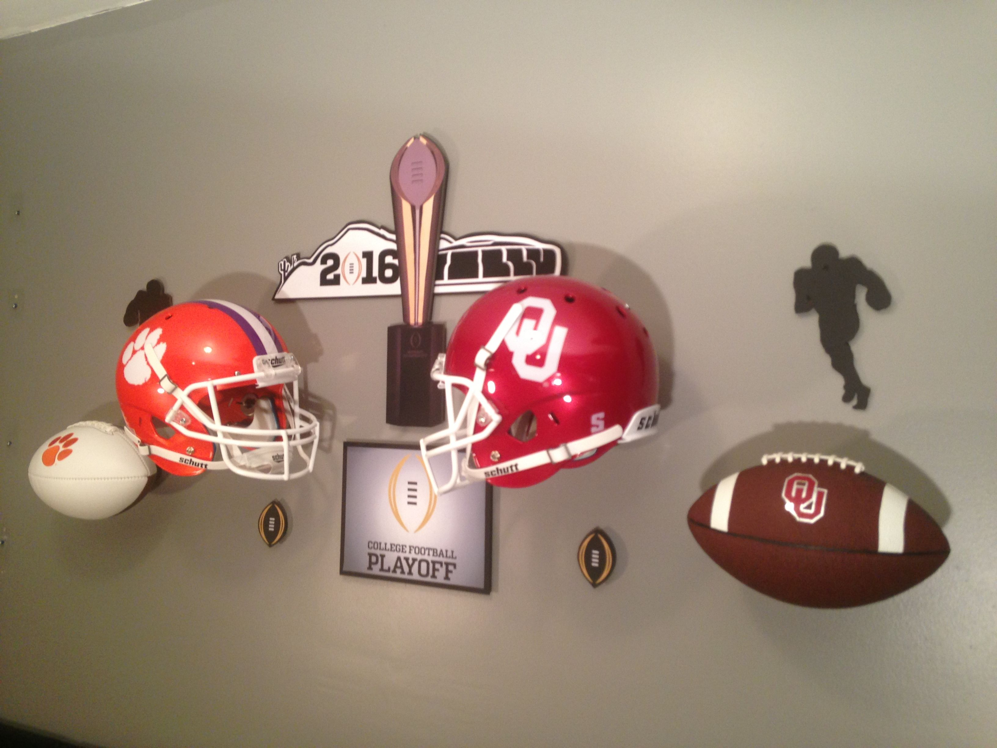 Man Cave Norman Ok : Boomer sooner? who ya' got? the invisi ball wall mount makes all of