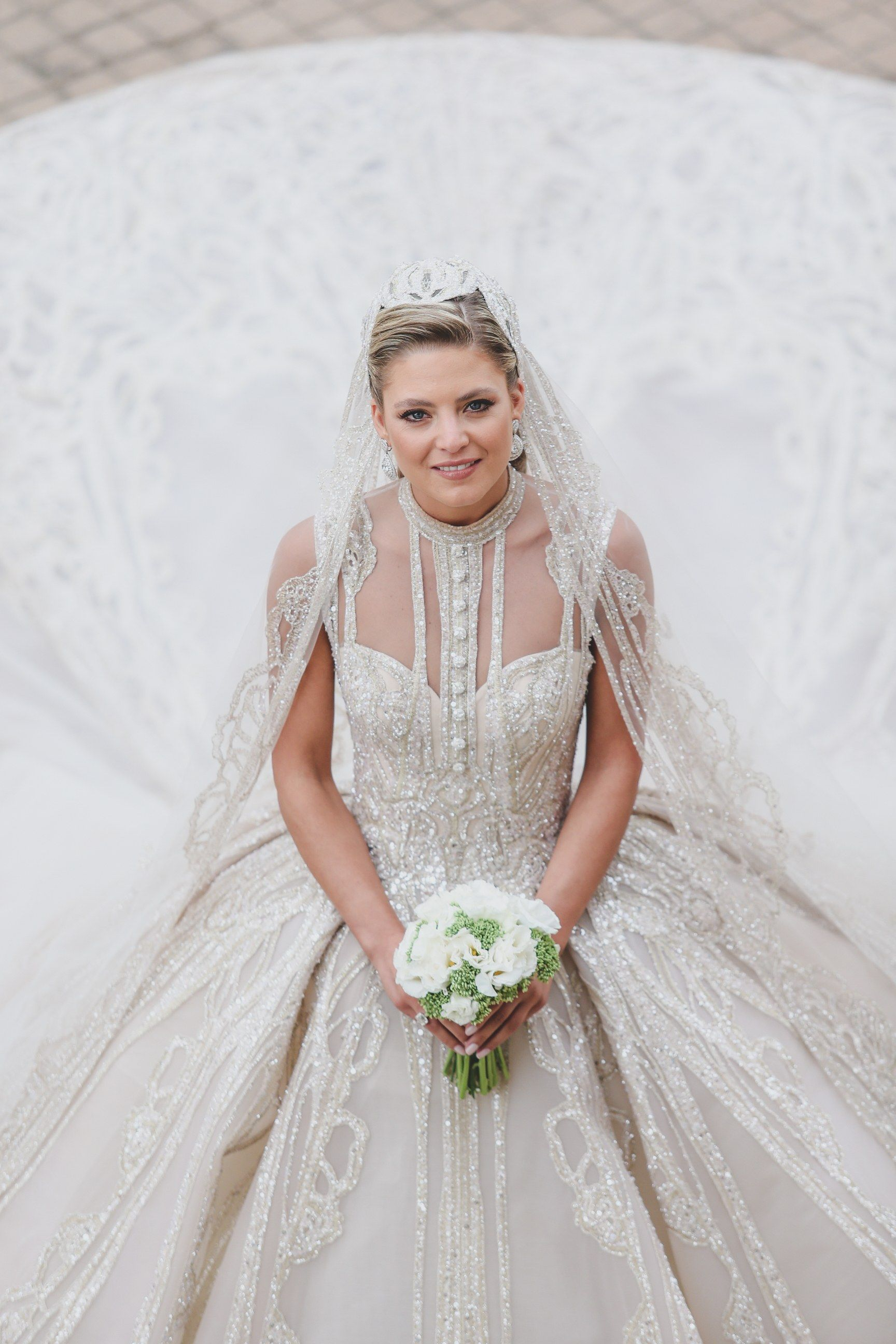 Christina Mourad Wore More Than One Million Sequins To Marry Elie