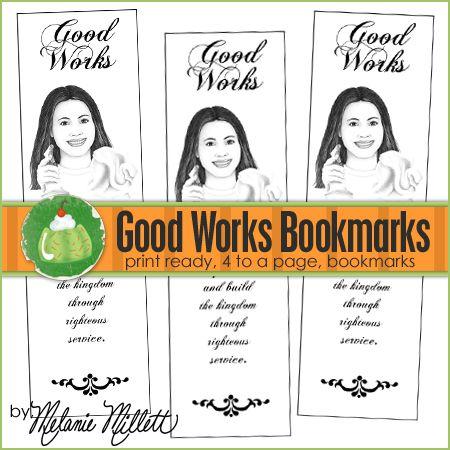 Good Works YW Printable Bookmarks