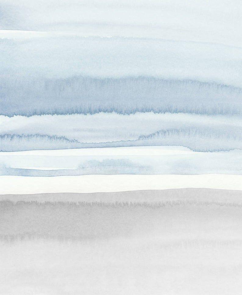 blue grey abstract art printable