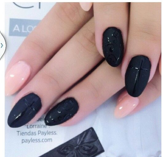 Almond #black #tan