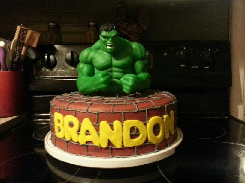 Hulk birthday cake Topper is a piggy bank Cakes I have made