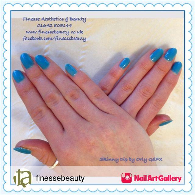 Skinny Dip by finessebeauty via Nail Art Gallery #nailartgallery ...