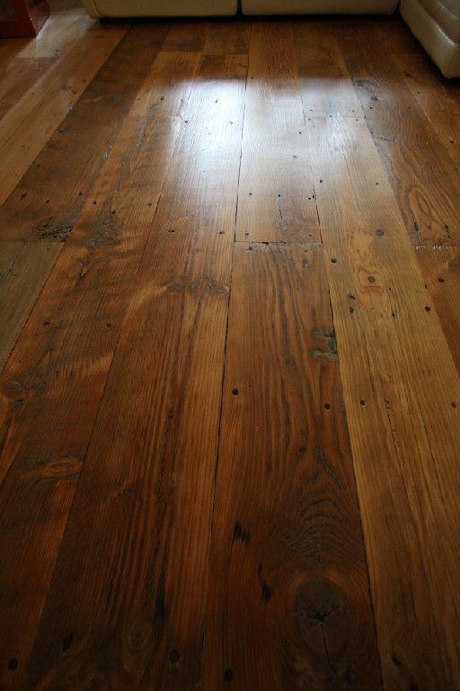 Reclaimed flooring floor it pinterest woods for Old barn wood floors